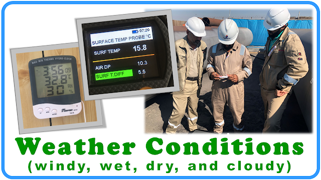 weather condition | cswip | nace | bgas| ISO 8501-1 | NACE or SSPC |SSPC-SP1
