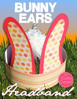 Bunny Crown! Tutorial for bunny ears headband with pom-pom tail at I Gotta Create!