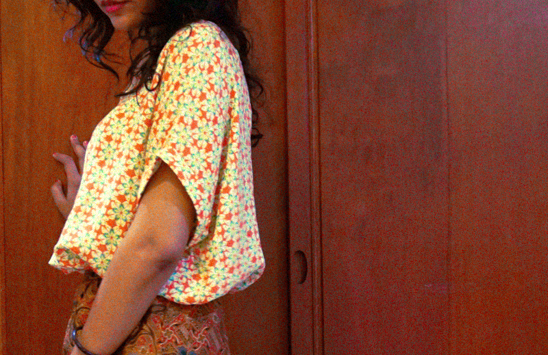 Casual in batik: How to print-clash with batik skirt and a patterned blouse