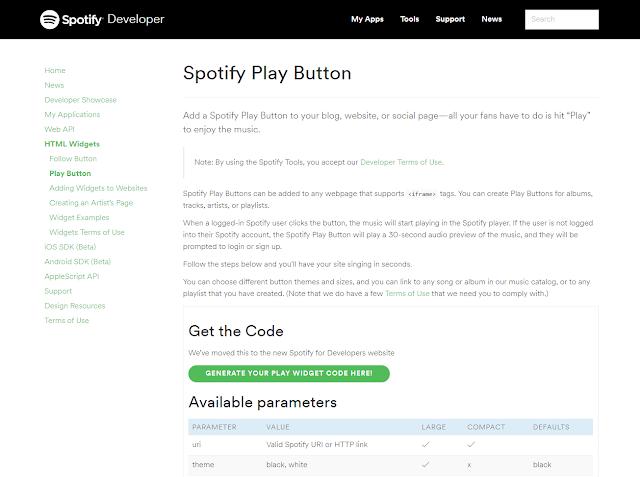 Cómo incluir canciones de Spotify con la portada del disco en tu página Web