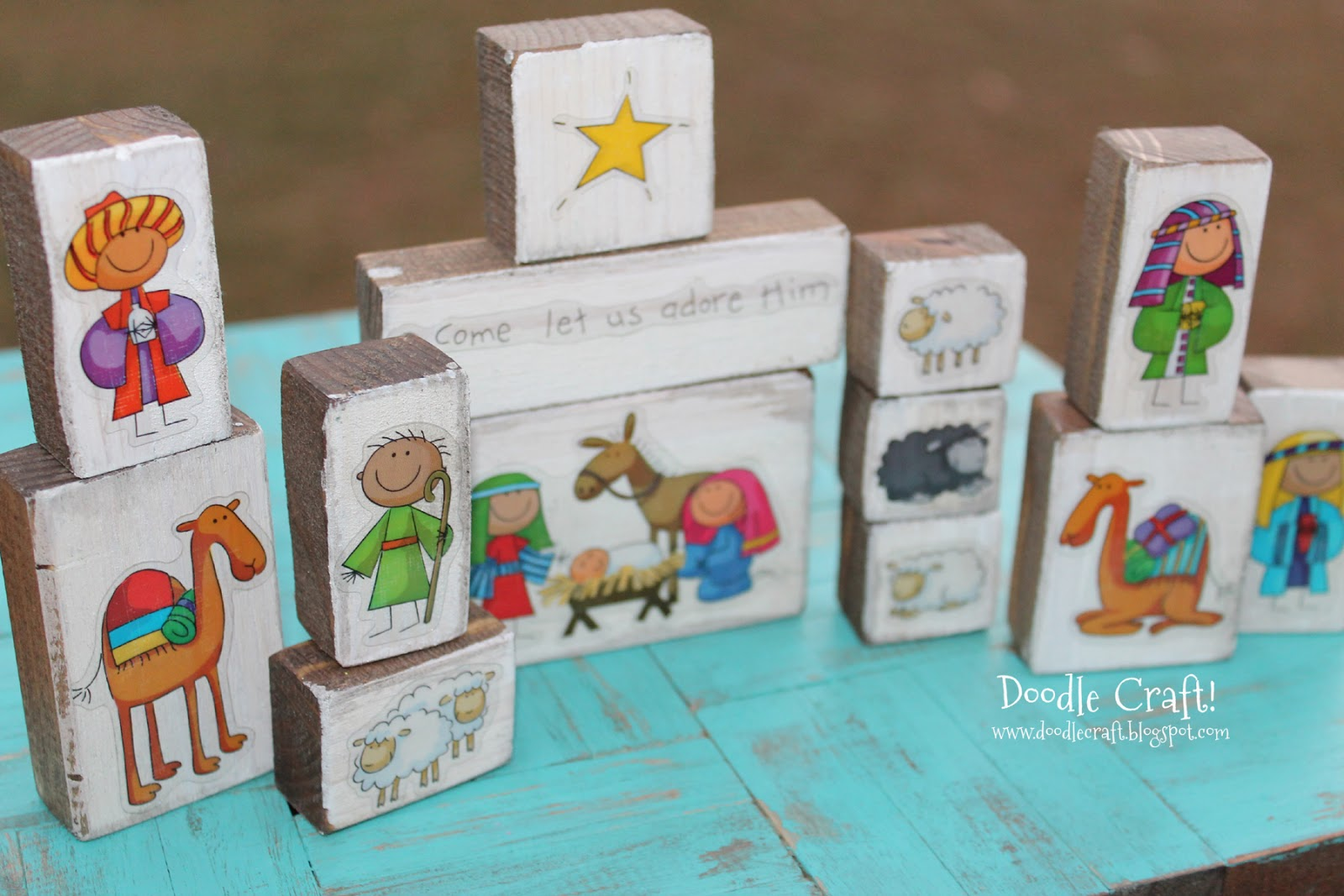 Doodlecraft cute christmas nativity sets and stickers for Nativity crafts to make