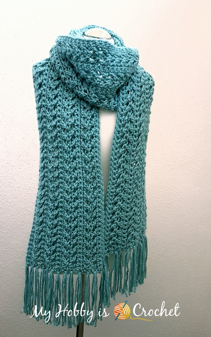 Free Crochet Patterns For Christmas Scarves : My Hobby Is Crochet: Go with The Flow Super Scarf - Free ...