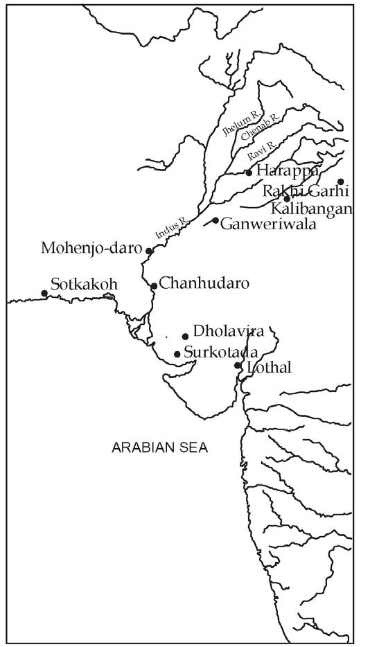 Harappan Cities: Mohenjodaro, Ganweriwala, Kalibangan, Harappa, RakhiGarhi, Chanduharo, Lothal, Dholavira, Surukotada