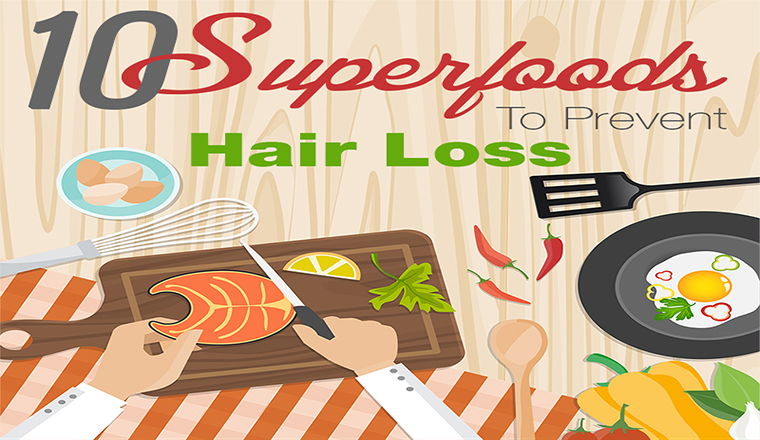 10 Amazing Foods That Prevent Hair Loss #infographic