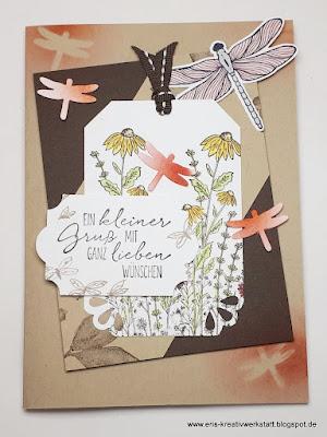 Grußkarte mit Libellen vom Stimdu Stampin' Up! www.eris-kreativwerkstatt.blogspot.de