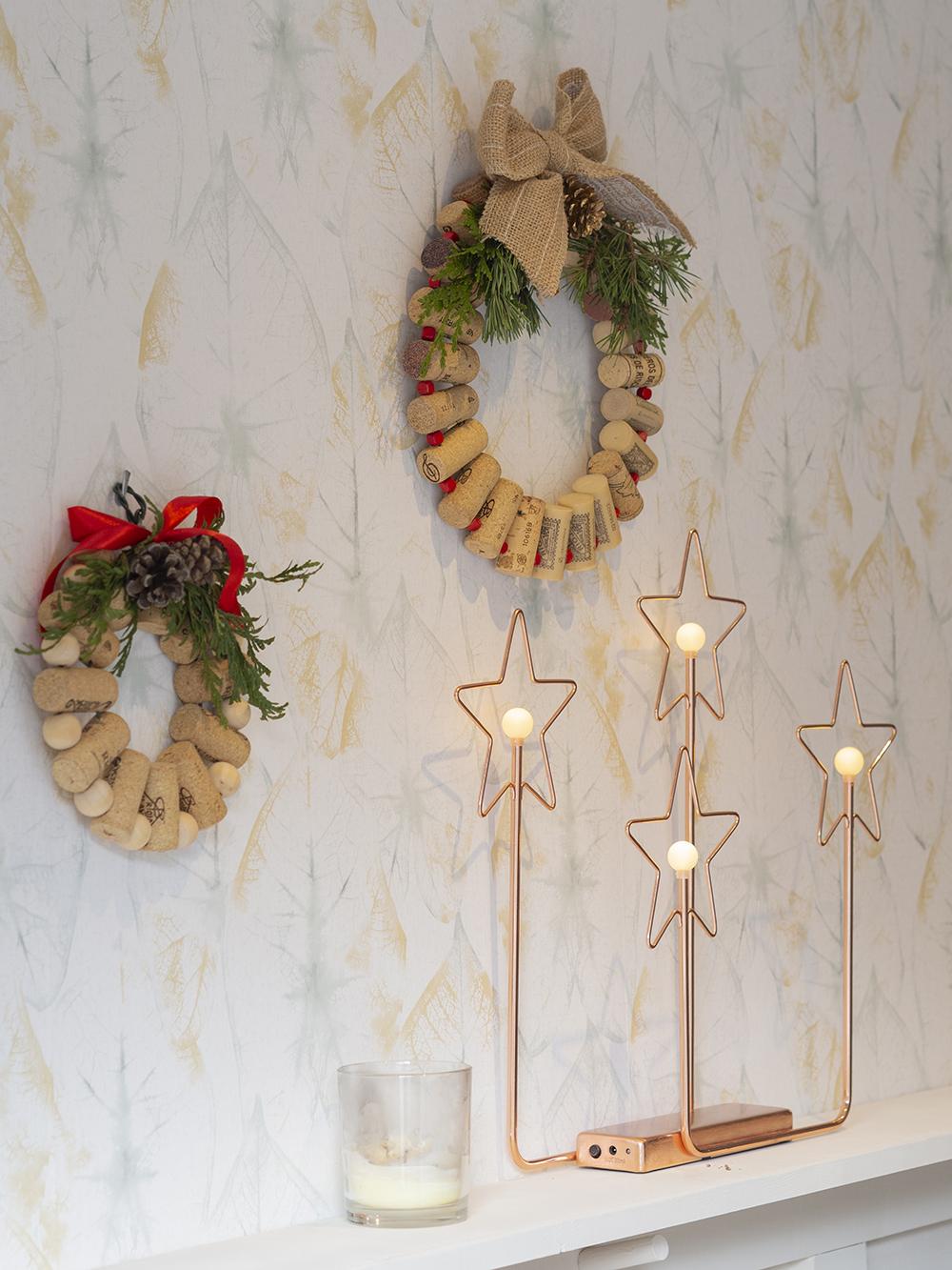 DIY Corona de navidad de tapones de corcho _18