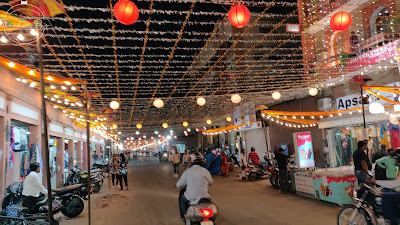 Bapu bazar  Diwali lights decor