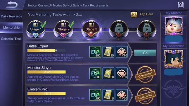 Mentor or Apprentice Mobile Legends