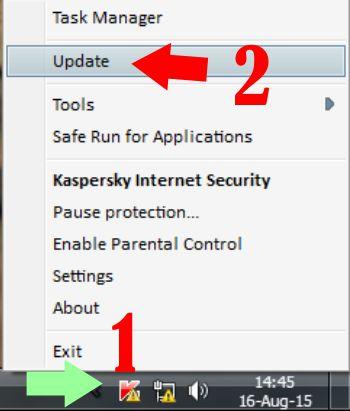 setting update database kaspersky