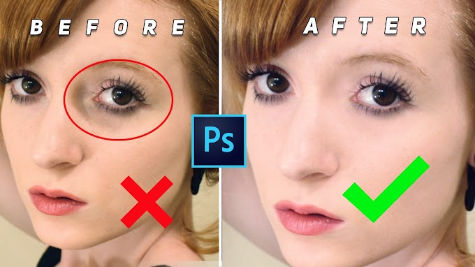 How to Remove Eye bags and Eye Dark Circle Photoshop Actions