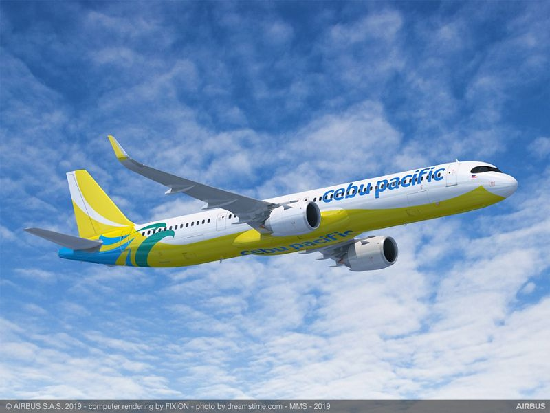 Cebu Pacific Airbus A321XLR render from Airbus