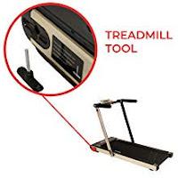 Folding tool / lock key on Sunny Health & Fitness Asuna Slim 8730 8730G Space Saving Low Profile Folding Motorized Treadmill, image