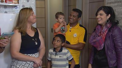 Juliana, Jean e os filhos com Fernanda Brum  Crédito: Divulgação/SBT