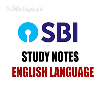 English : Study Notes For SBI Clerk Prelims Exam | 07.02.18