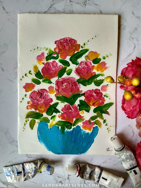 Belajar finger painting