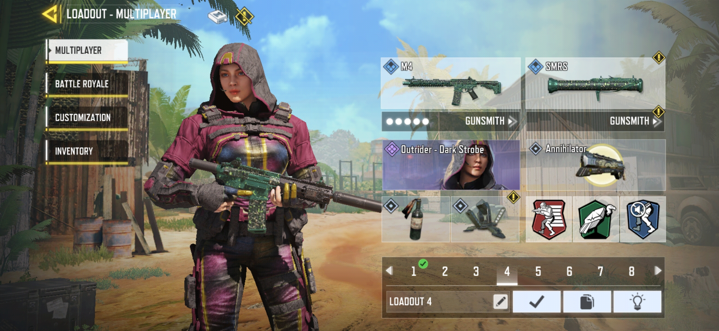 Loadout for M4 Aggressive Gameplay