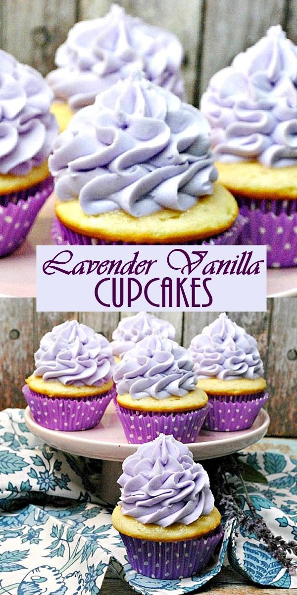 Lavender Vanilla Cupcakes #Cupcakesrecipes