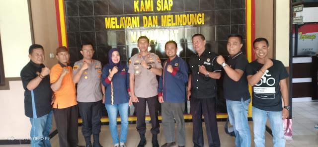 Kapolres Way Kanan Siap Dukung dan Suport Segala Kegiatan yang Dilakukan Kepengurusan PWI Way Kanan yang Baru