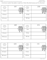 Free 3 Digit Place Value Worksheet Example