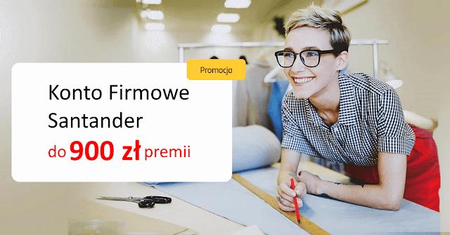 Konto Firmowe Santander - 900 zł premii