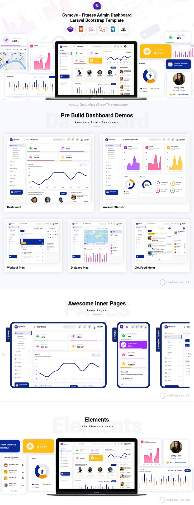 Fitness Admin Dashboard Laravel Bootstrap Template