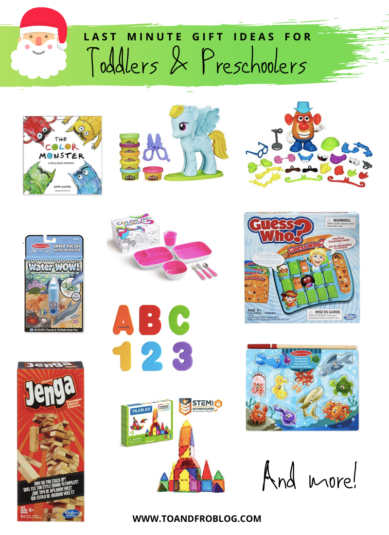 Last Minute Gift Ideas for Toddlers and Preschoolers