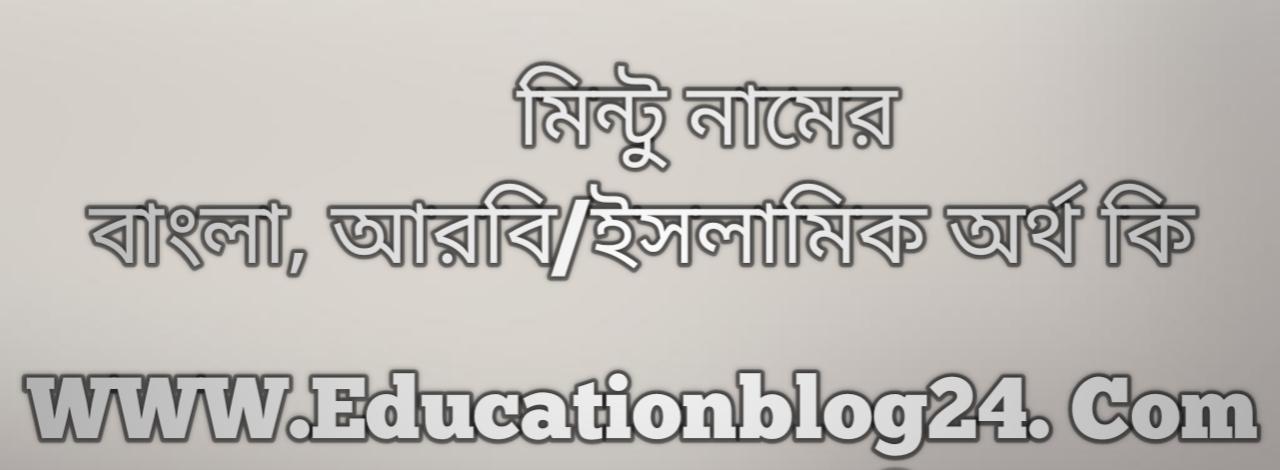 Mintu name meaning in Bengali, মিন্টু নামের অর্থ কি, মিন্টু নামের বাংলা অর্থ কি, মিন্টু নামের ইসলামিক অর্থ কি, মিন্টু কি ইসলামিক /আরবি নাম