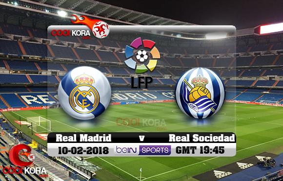 مشاهدة مباراة ريال مدريد وريال سوسيداد اليوم 10-2-2018 في الدوري الأسباني