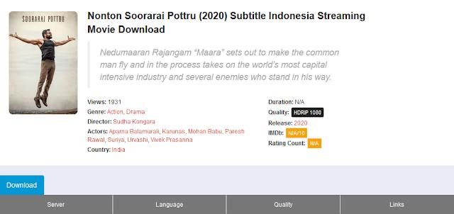 Nonton Film Soorarai Pottru Sub indo Streaming Movie