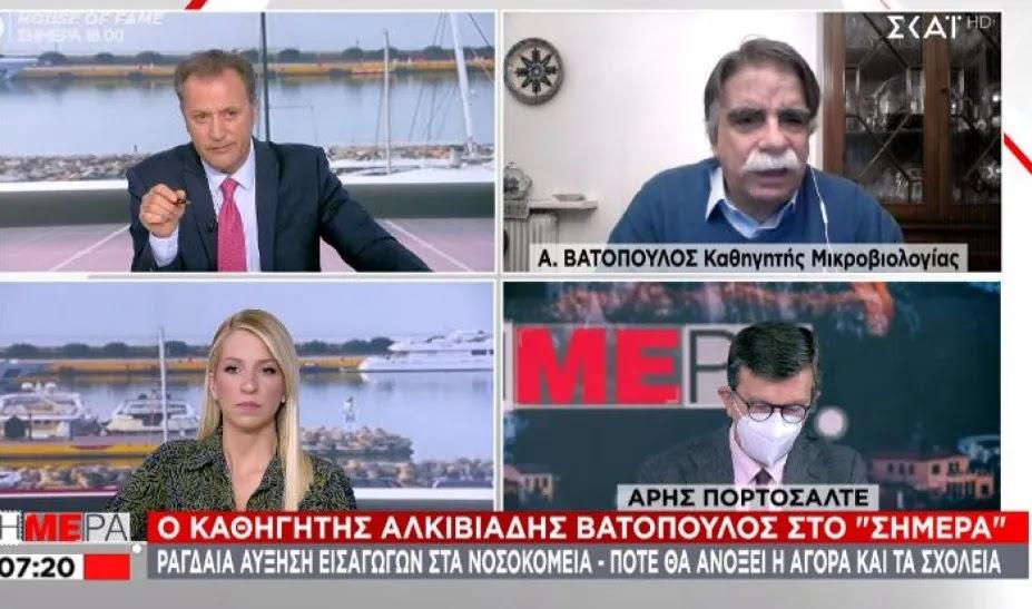 Βατόπουλος: «Μάσκες θα φοράμε όλο το 2021»