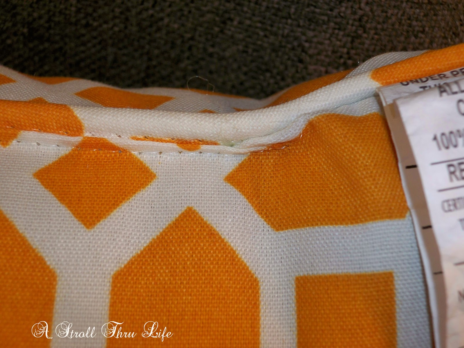 Adding a zipper to a pillow