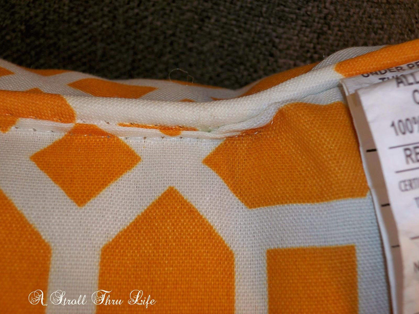 Adding a zipper to a pillow