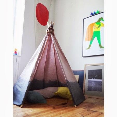 d co tableau personnaliser son int rieur nouvelle tendance des chambres d 39 enfants la tente d. Black Bedroom Furniture Sets. Home Design Ideas