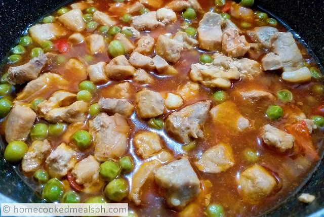 Pork Guisantes, pork recipe, easy to cook recipe