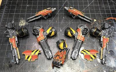 Adeptus Titanicus Legio Ignatum Warlord Titan WIP - weapons