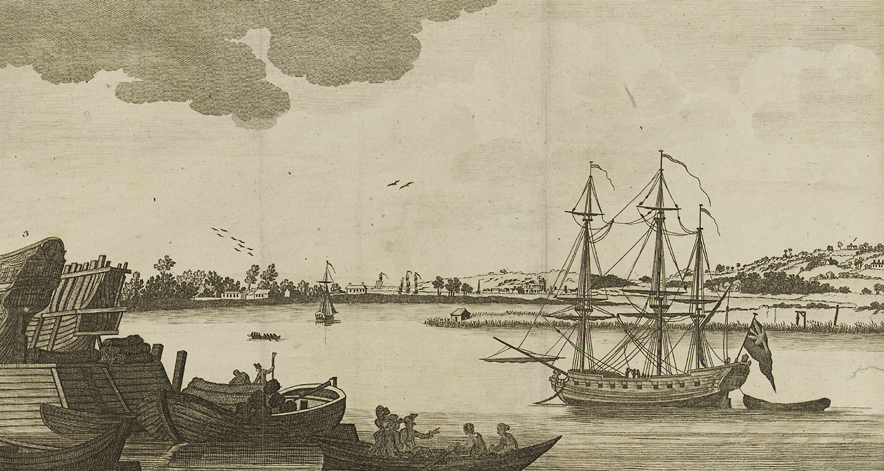 A Perspective view of the River Thames, 1782. ""