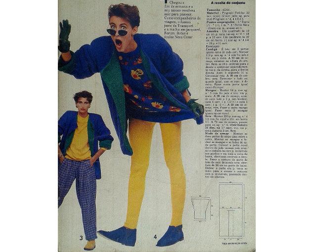 Retrô: revistas antigas mostram roupas da moda dos anos 80