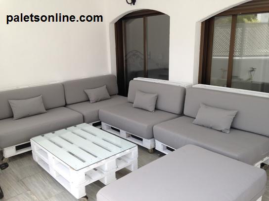 mesa palets blancos y cristal europalet - Sofas De Palets
