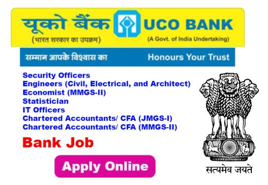 Specialist Officers Recruitment in UCO Bank