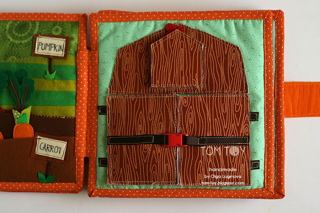 Handmade cloth quiet busy book for Sergio, barn, развивающая книжка