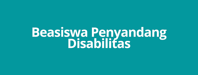 Beasiswa Penyandang Disabilitas