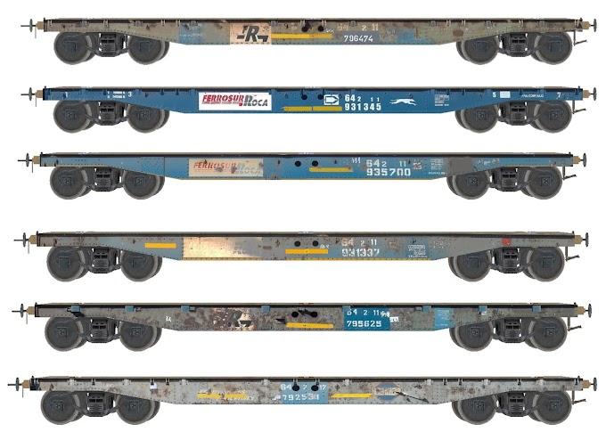 Pack de Vagones CT64 - Ferrosur Roca - 2
