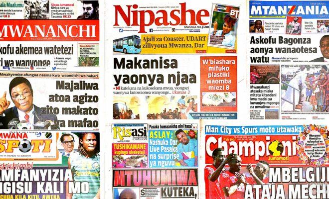 Tanzania Today News Paper Saay April 20 2019