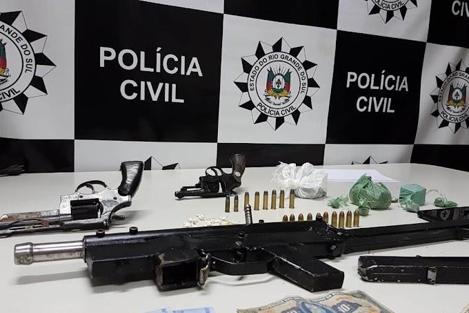 Polícia prende seis e apreende submetralhadora artesanal em Gravataí