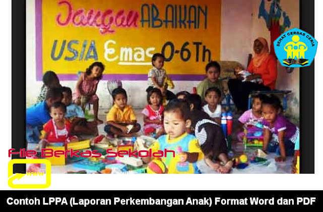 Download Contoh LPPA (Laporan Perkembangan Anak) Format Word dan PDF