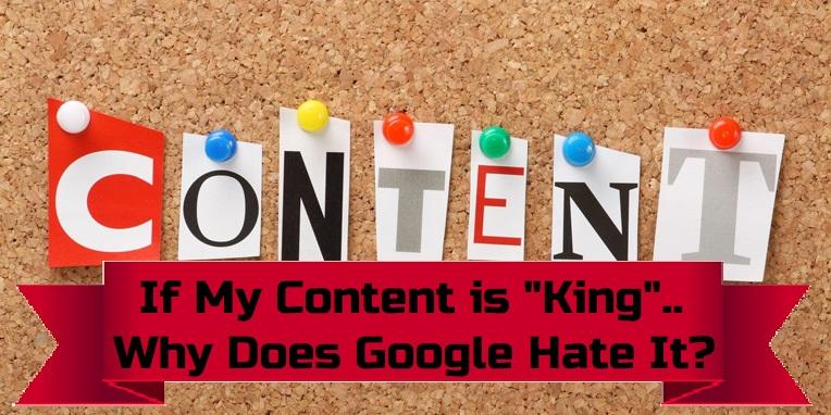 google hates my content