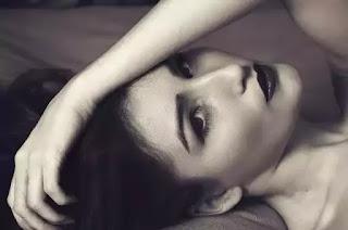 woman makeup monochrome