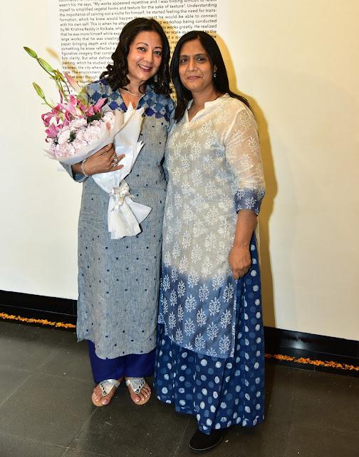 Philanthropist Neelam Pratap Rudy with Art Curator Seema Subbanna
