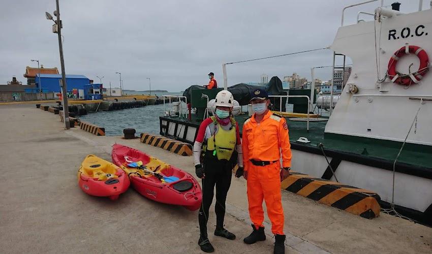 遊客划獨木舟無力返航 巧遇澎湖海巡救援