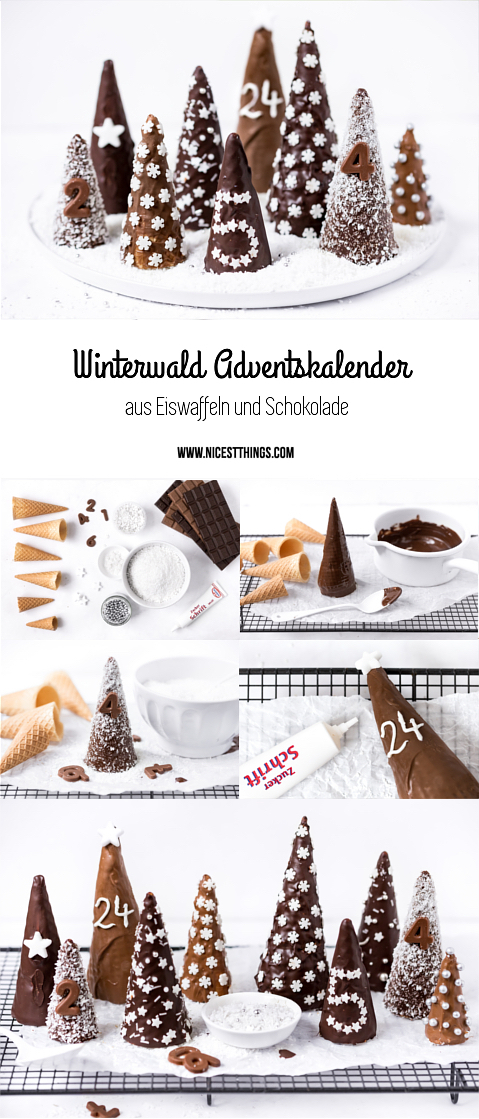 diy eiswaffel adventskalender winterwald aus eist ten b umen nicest things. Black Bedroom Furniture Sets. Home Design Ideas